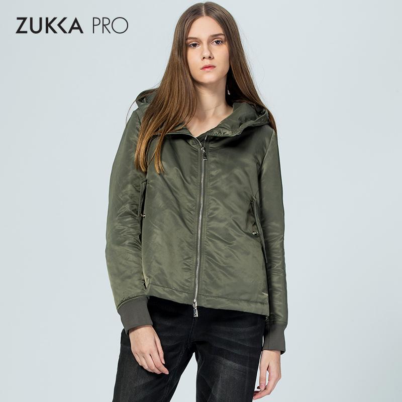 ZUKKA PRO卓卡秋冬潮流新款短款连帽羽绒服时尚修身外套