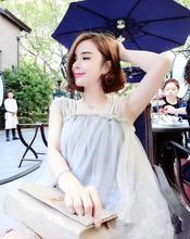 泰国裸色显白性感甜美网纱名媛气质吊带娃娃度假沙滩三亚连衣裙