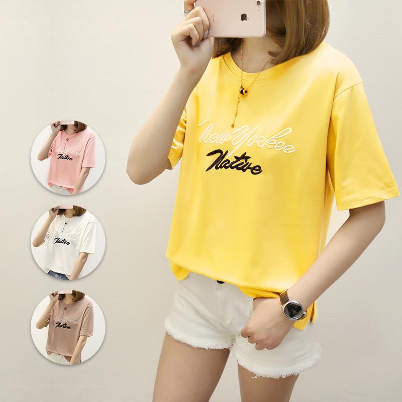 學生寬松短袖打底女上衣衣服韓國女裝夏季