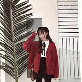 限时包邮!【ANLI STYLE】超学院 胸口徽章图案 针织宽松开衫