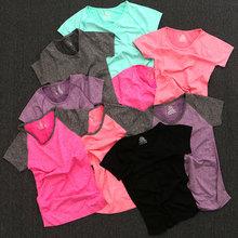 修身 速干上衣 显瘦运动服短袖 T恤衫 夏季瑜伽服女健身服跑步衣上装