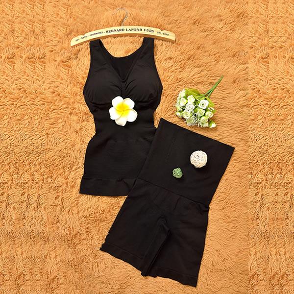 收腹衣美体束缚分体套装背心式提臀束身衣薄款加强版产后塑身衣