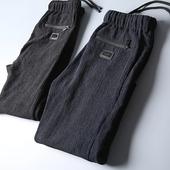 夏季高品质舒适~定制做皱面料 夏季薄款男士时尚抽绳休闲长裤卫裤