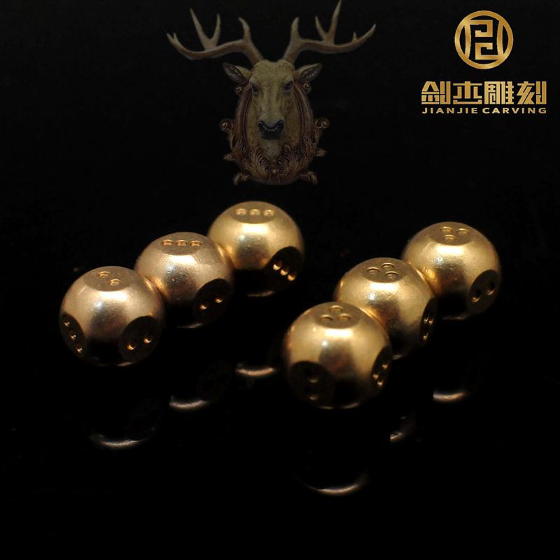黄铜占星骰子占卜色子占卦专用多面玲珑骰子色子减压骰子可定制