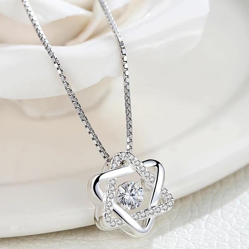 曼诺龙s925银项链女吊坠日韩女锁骨链女免费刻字情人节礼物送女友
