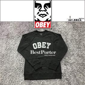 国内现货 美国正品obey男女胸口大logo休闲运动外套卫衣加绒薄款