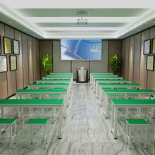 厂家直销学校教学高中小学生双人课桌长条桌彩色培训书桌椅快餐桌