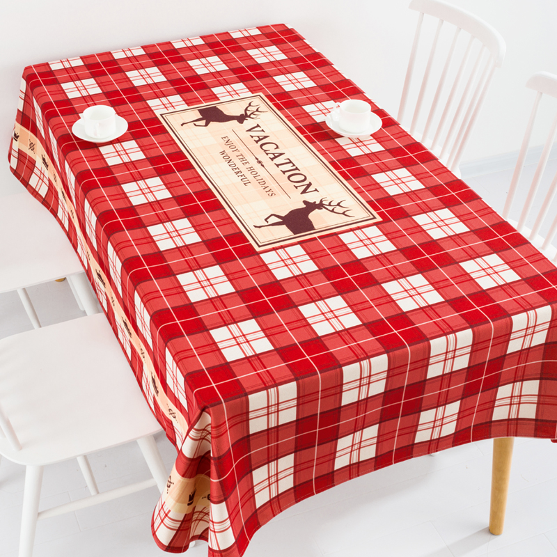 北欧节日新年ins餐桌布