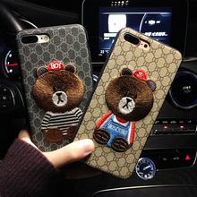 韩国潮牌刺绣iphoneX苹果6s情侣防摔手机壳8plus外壳7p挂绳女款图片