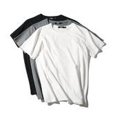 马切达原创夏季潮流纯色T恤男士短袖修身纯棉打底衫圆领休闲上衣