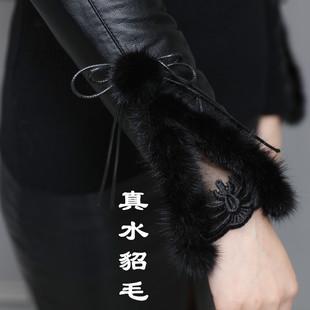 高领皮袖打底衫女冬羽绒袖修身中长款套头毛衣内搭长袖女针织衫