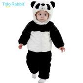 婴儿秋冬服装童装套装加厚宝宝熊猫套装冬季儿童外出棉衣1-2-3岁