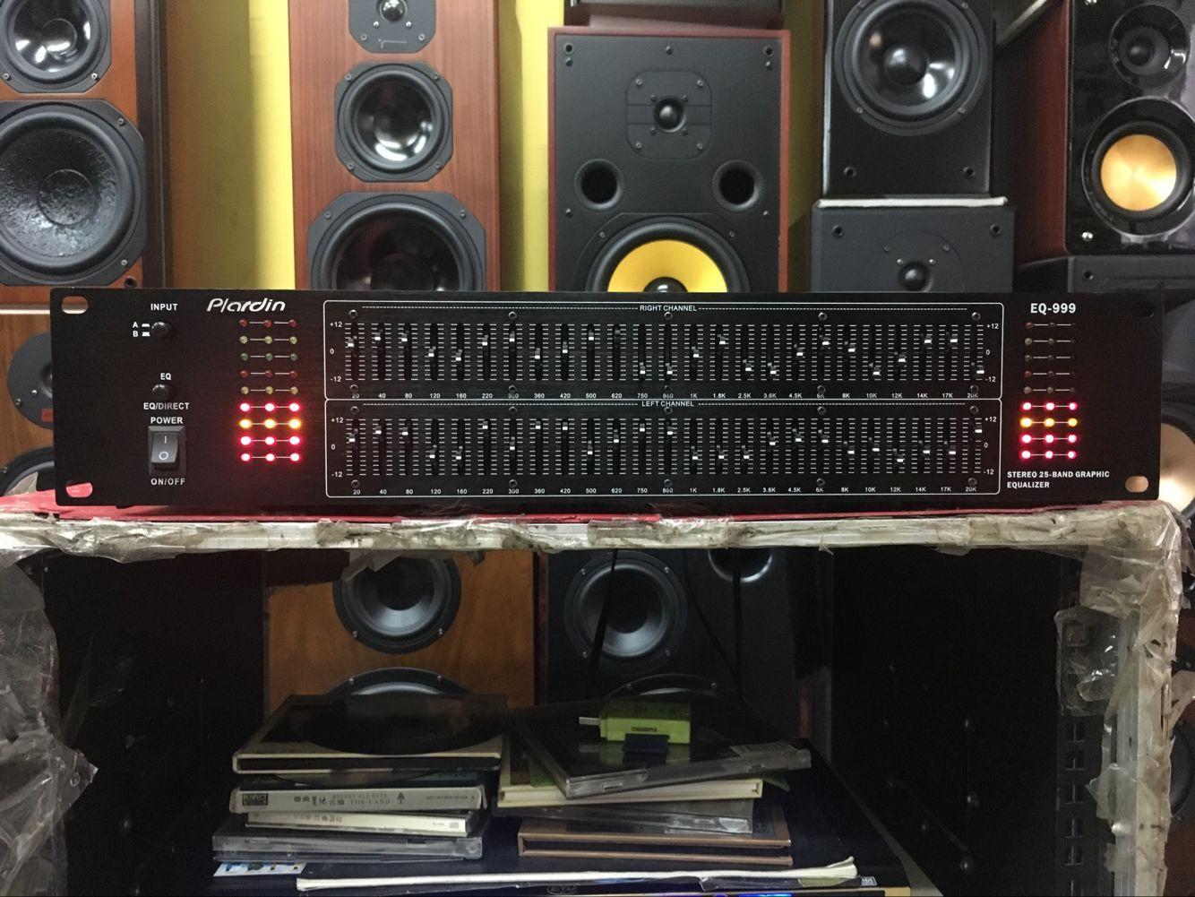 包邮黑色EQ-999 双25段上下手调显示屏家用均衡器舞台 均衡效果器