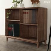 日式无印边柜置物柜格子柜可以定制原木北欧风格和风黑胡桃木边柜