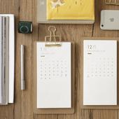 包邮 2017年度个人菜单式日历 创意DIY活页精致烫金农历套装台历