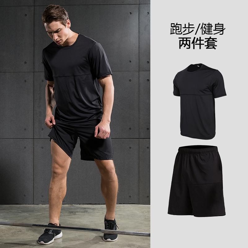 篮球紧身短袖短裤上衣夏季两件套健身房跑步运动套装