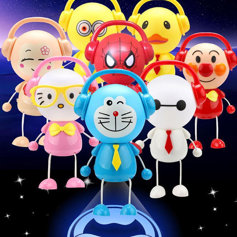 【满2件减3元】儿童中秋节礼物灯笼卡通七彩音乐玩具发光叮当猫