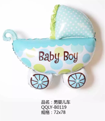 Buy baby carriage aluminum film balloon children 39 s for Baby full moon party decoration