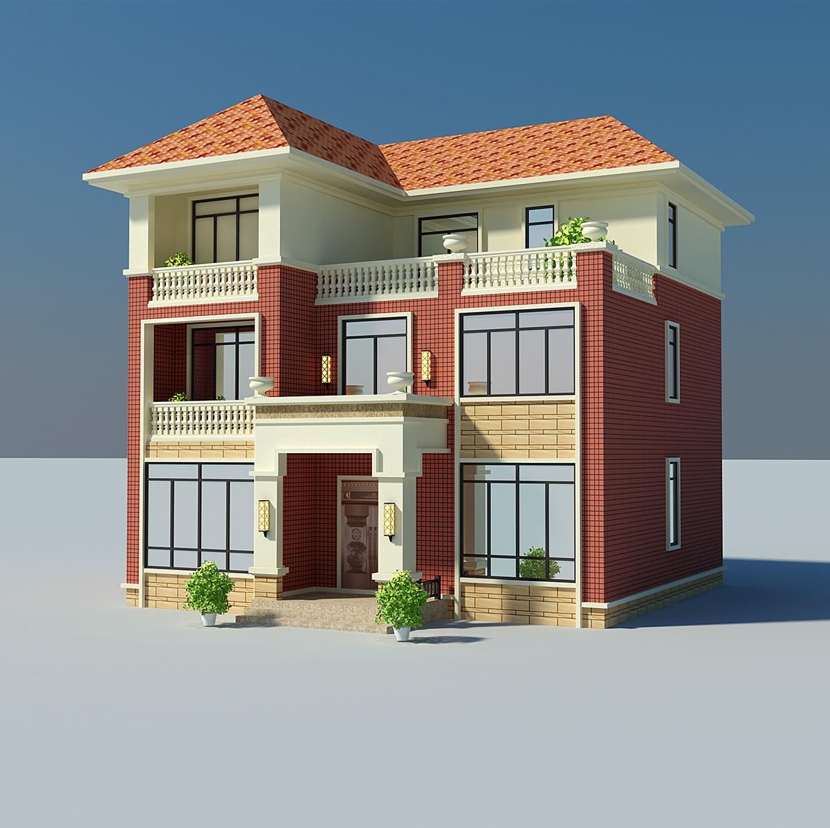 全套农村三层别墅设计图纸 欧式自建房屋施工图 小房子设计图