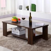 茶几简约现代客厅边几家具储物简易茶几双层木质小茶几小户型桌子