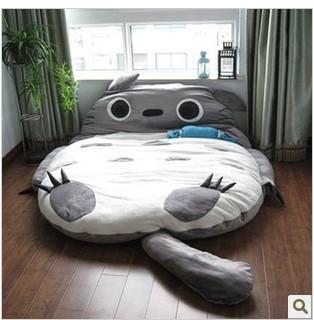 超大小号加厚龙猫懒人床睡垫双人