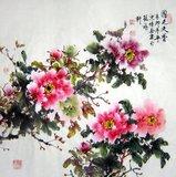 四尺斗方国色天香C16093国画花鸟.精品牡丹画艺佳.字画