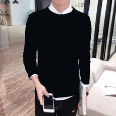 Tunicam et hiems Korean sweater circum collum diu CHIRIDOTUS sweater bottoming Slim Velvet crassum plus sweater hominum