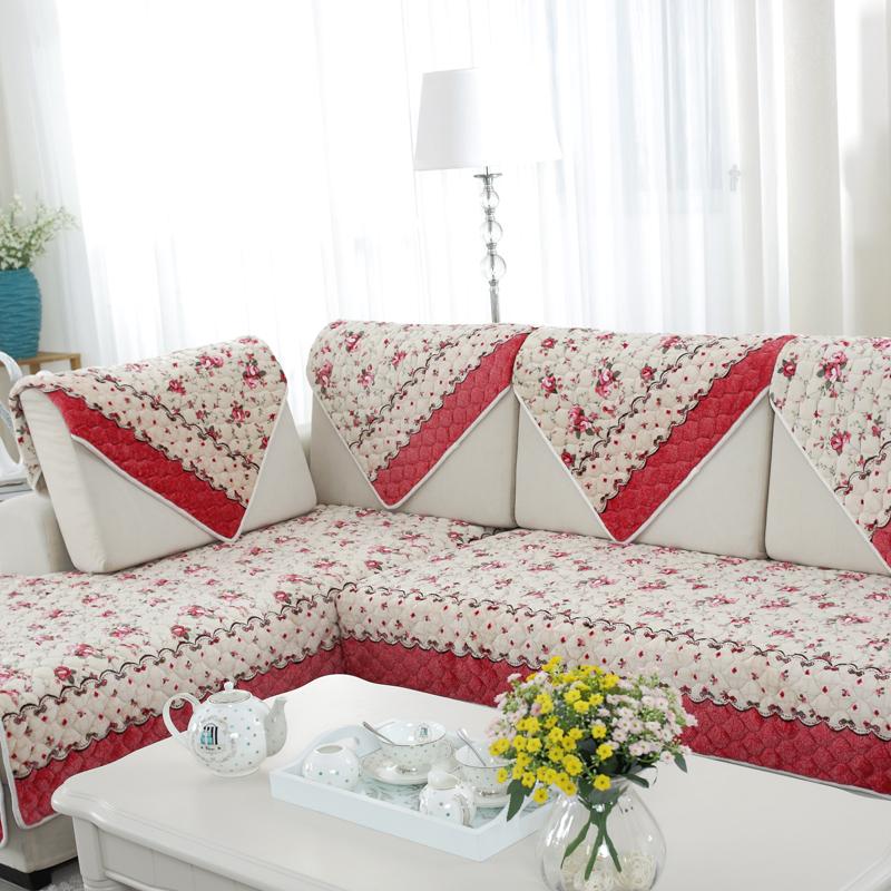 法兰绒沙发垫时尚布艺欧式沙发套防滑冬季沙发巾毛绒加厚坐垫子罩