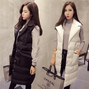 2017新款中长款羽绒棉冬季马甲女士韩版秋冬装百搭加厚背心外套潮