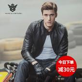 皮衣男新款夹克外套立领短款修身型韩版机车青年男士pu皮夹克潮流