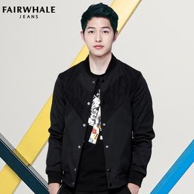 马克华菲夹克男2017春装新款修身韩版青年棒球服男装潮流男士外套