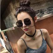墨镜2017新款圆形韩国太阳镜女士女潮明星款眼睛圆脸个性优雅眼镜