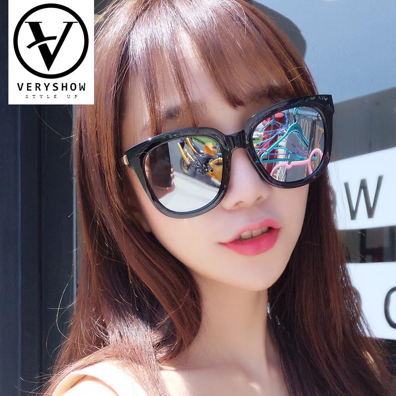 明星墨镜女士镜韩版款大框太阳镜偏光驾驶gm圆脸