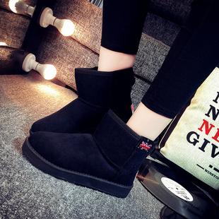 秋冬季雪地靴平底加绒加厚保暖