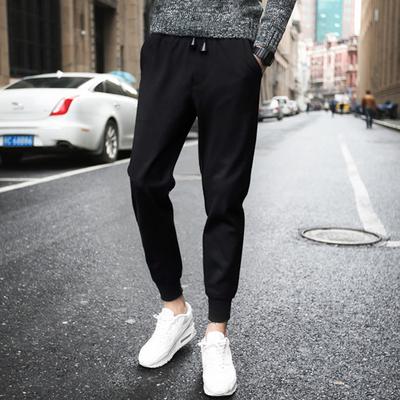 【2件装】男裤子薄款修身小脚运动裤夏季男士九分休闲裤哈伦裤潮
