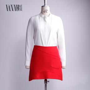 延续预售7天发货欧洲站双面羊绒半裙女中款2016宽松显瘦韩版