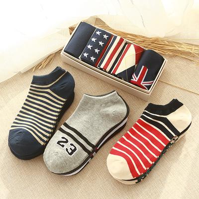 袜子男短袜夏季超薄款低帮运动男袜防臭短筒棉袜男士浅口隐形船袜
