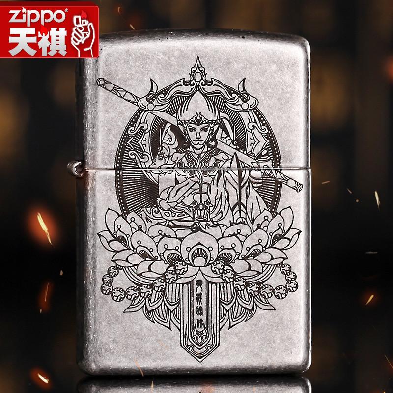 原装防风zippo正品打火机正版 古银雕刻 斗战胜佛 魔猴 正品限量