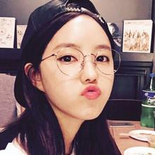 复古文艺金属眼镜框近视男女款超轻圆形细框眼镜架韩国原宿平光镜
