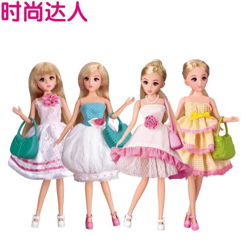 玩具小女孩子仿真套装女童洋娃娃衣服短裙儿童公主