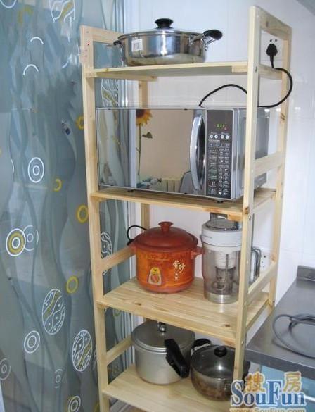 木置物架子 微波炉架电饭煲电器三四五层架