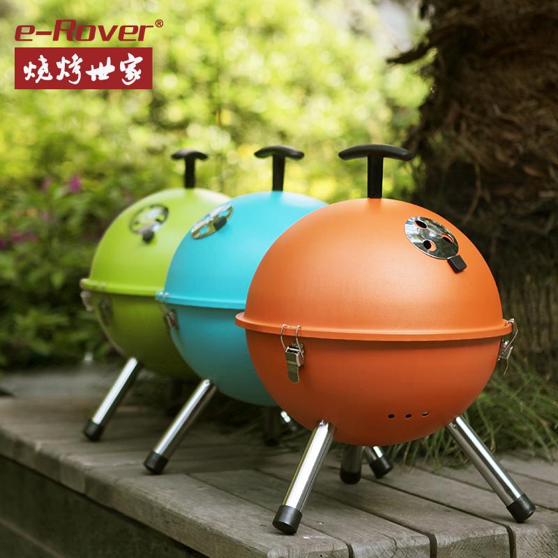 世家BBQ迷你烧烤炉户外便携苹果小烤炉木炭烧烤架圆形3-5人包邮