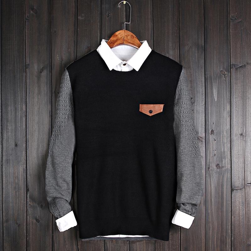 长袖T恤男士外套韩版V领体恤上衣春装男装潮卫衣服秋衣针织打底衫