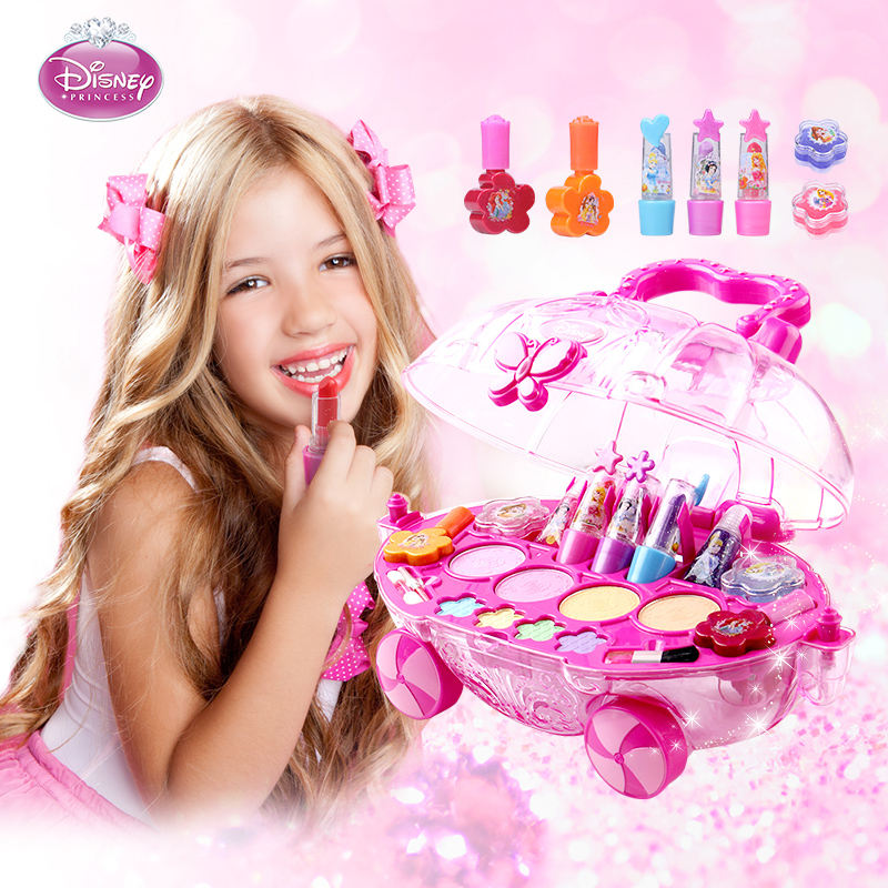 Disney迪士尼公主儿童化妆品彩妆套装过家家女孩生日礼物美妆玩具