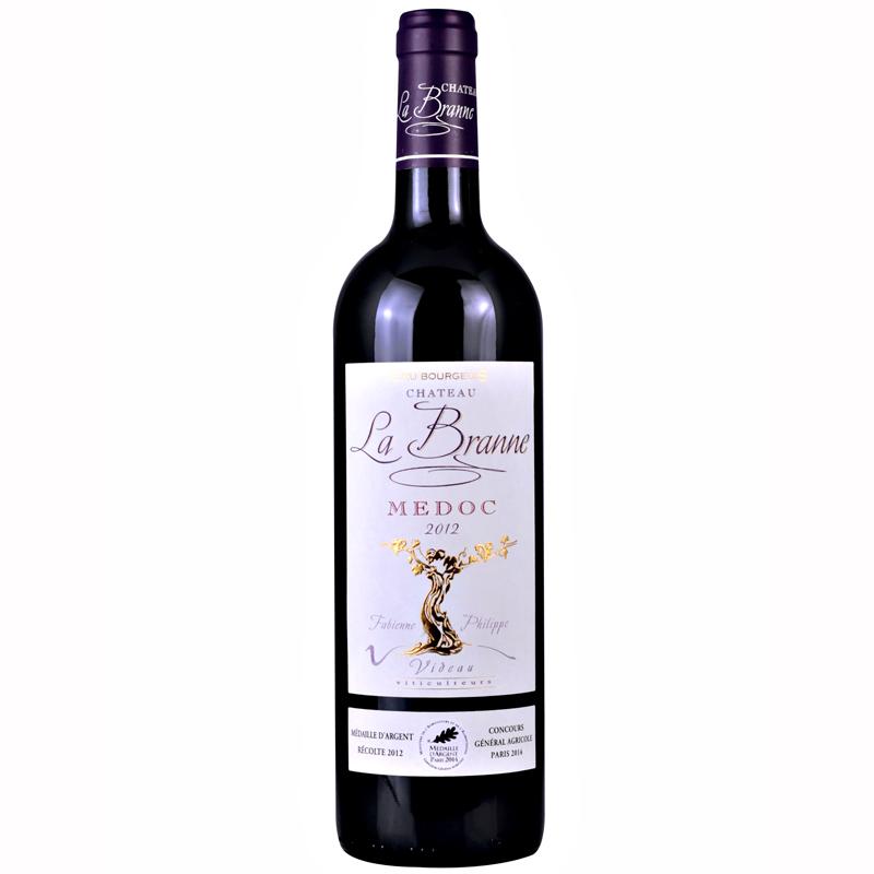 法國博朗娜城堡幹紅葡萄酒 原瓶進口紅酒 750ML