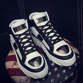 韩版运动鞋男士休闲鞋潮流高帮鞋男鞋子花色板鞋街舞嘻哈复古潮鞋