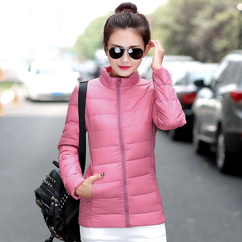 显瘦薄款轻薄保暖衣女韩版秋冬季女短款羽绒服外套修身