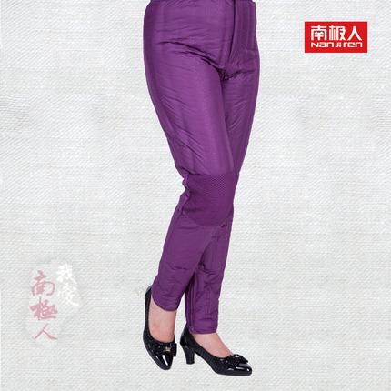 南极人羽绒裤加厚直筒羽绒长裤女中老年保暖休闲气质外穿羽绒棉裤