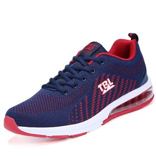 夏季新品运动鞋气垫网鞋透气休闲鞋潮流时尚男鞋户外跑步鞋子男