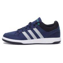 阿迪达斯男鞋2017春新款低帮帆布鞋运动休闲板鞋网球鞋AW 5061